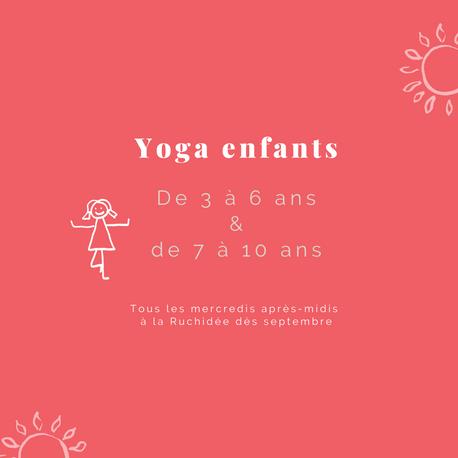 Cours de yoga pour enfants à Limoges dès le mois de septembre ! 🧒