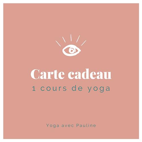 Carte cadeau - 1 cours de yoga avec Pauline