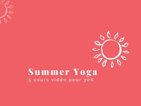 Summer yoga : continuez à pratiquer en ligne tout l'été ! ☀️💻