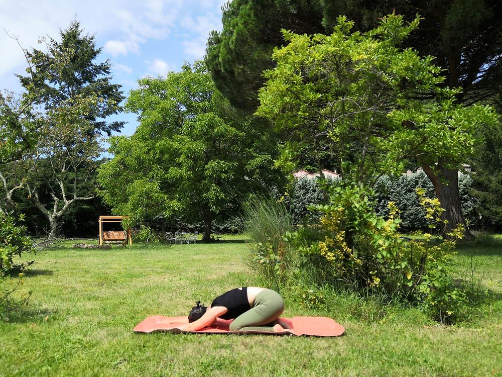 Balasana - yoga avec pauline limoges