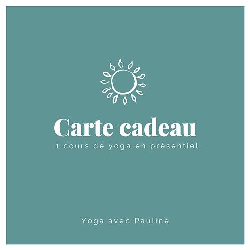 Carte cadeau - 1 cours de yoga en présentiel
