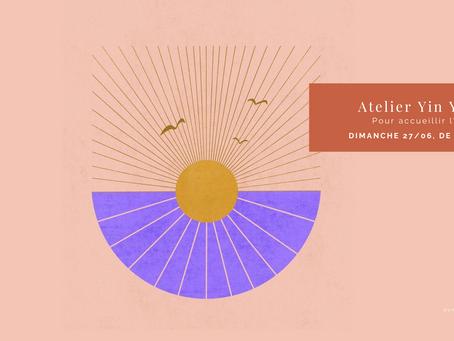 AGENDA | Atelier Yin Yang pour accueillir l'été