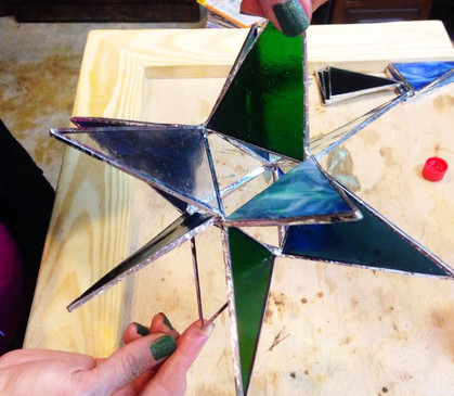stained glass star finished