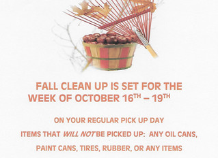 Fall Clean Up week