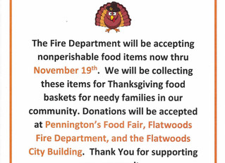 FIRE DEPARTMENT FOOD DRIVE