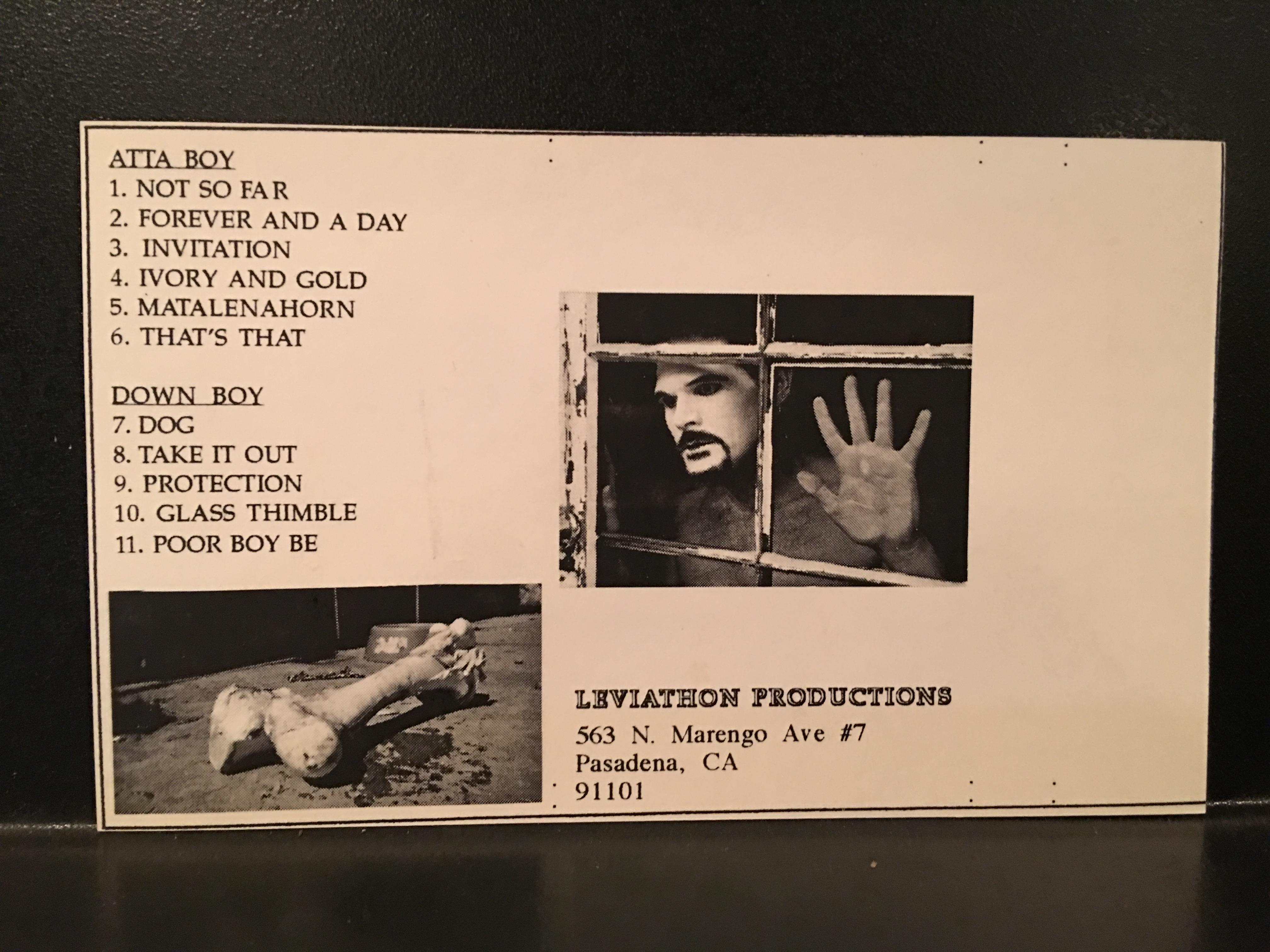 Dog cassette (back)