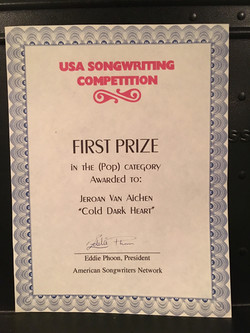 Won a song Contest