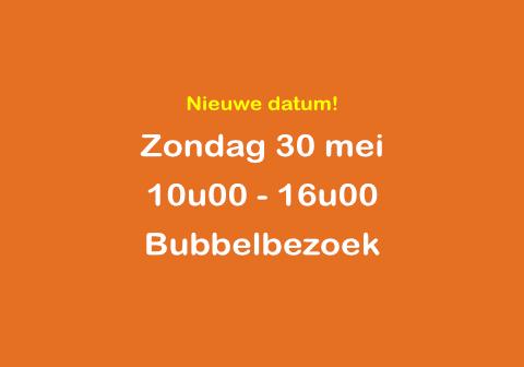 Zondag 30 mei bubbelweekend