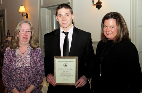 TVHS Archivist, Karen Martin with award winner, Sean Mullen and Tri-Spy Tours Founder, Margo Arceri