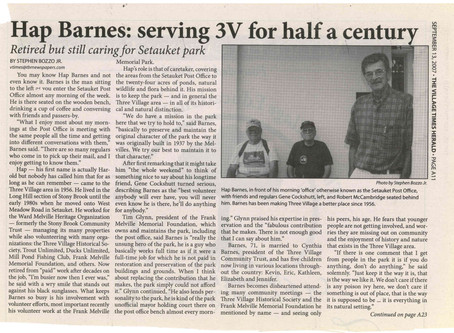 Our deepest sympathy to the Barnes family on the passing of Hap Barnes.