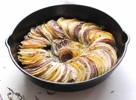 Tian de navets et pommes de terre