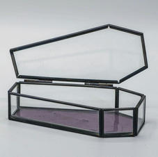 Glass Coffin Ring Box