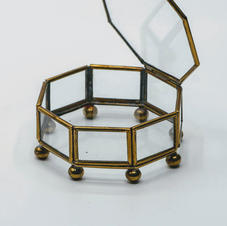 Antique Glass Ring Box