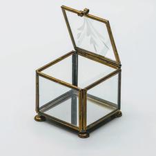 Antique Glass Ringbox