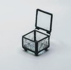 Black Glass Ring Box
