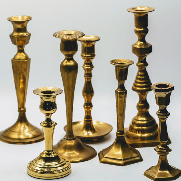 Various Gold Candlesticks