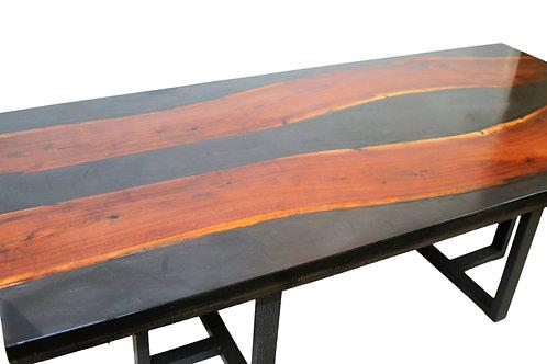 CUSTOM BLACK WALNUT RESIN TABLE