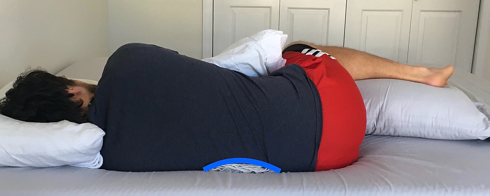 Supported sleep positions for better recovery and rest