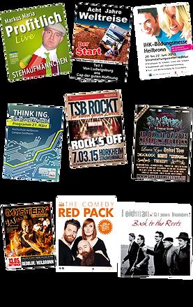 Beispiele Plakatierungen von Max Events