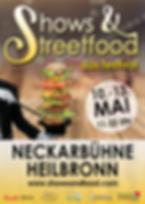 Plakat Shows & Streetfood Festival Heilbronn von Max Events