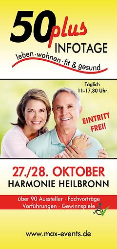 50 Plus Infotage Harmonie Heilbronn von Max Events
