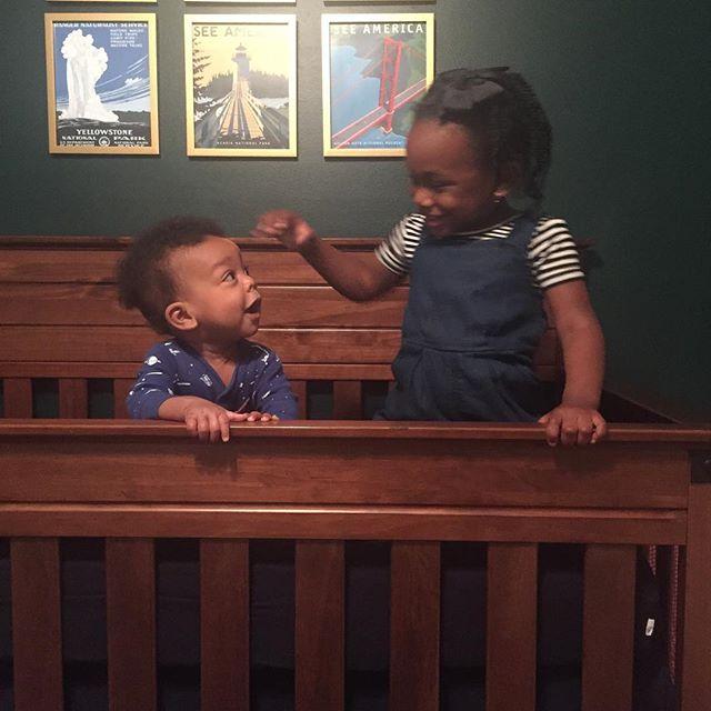 Umm, time to drop the crib 🙄#bigsister #littlebrother #MaciEden #HarrisonLeo