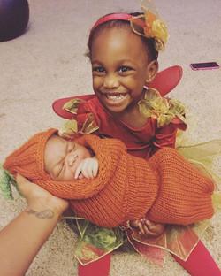 #MaciEden is the happiest Autumn Fairy with her brand new pumpkin!#autumnfairy #fallfairy #2yearsold