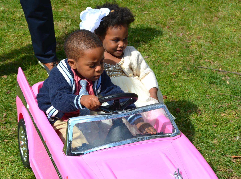 Vintage Pink Car