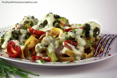 Creamy Broccoli and Roasted Cherry Tomato Sauce