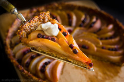 Pear and Blueberry Crostata