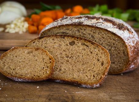A Little Whole Wheat Sourdough Boule
