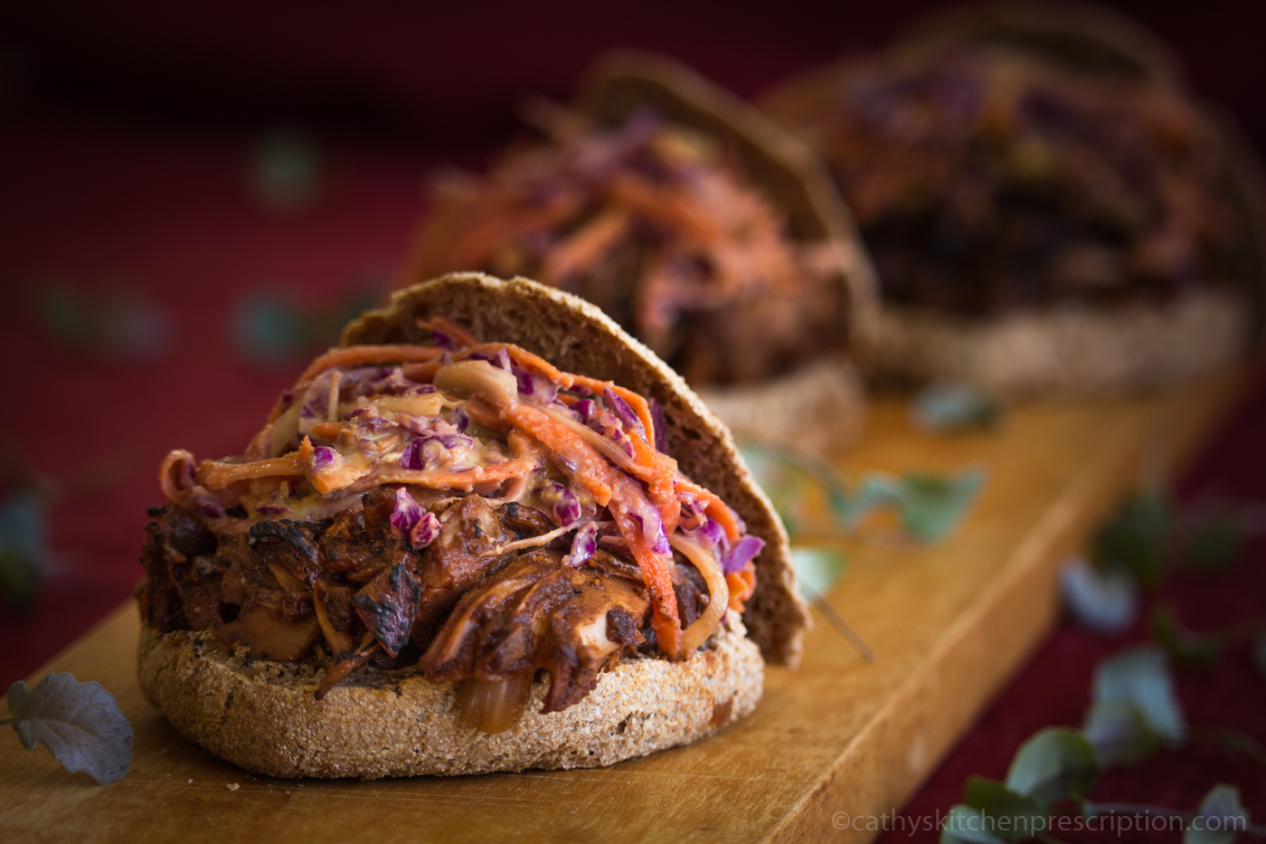 Barbecued Pulled Jackfruit with Slaw