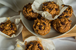 Sweet Potato Oat Raisin Muffins