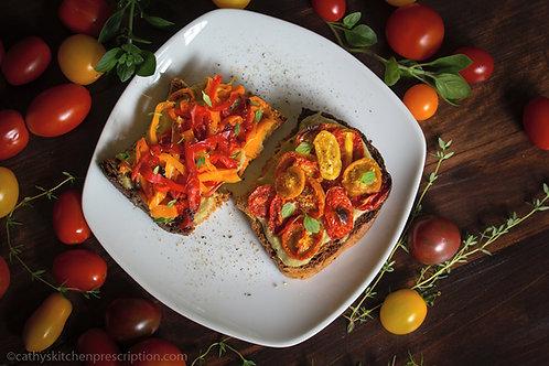 Roasted Tomato and Pepper Bruschetta