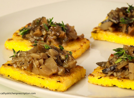 Making Polenta Crostini con Funghi!
