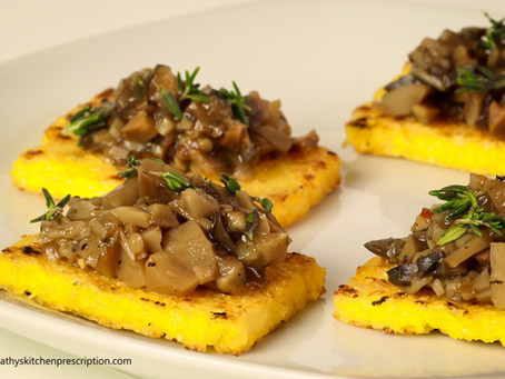 Making Polenta Crostini con Funghi!