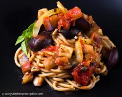 Zesty Sicilian spaghetti