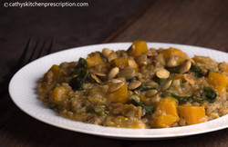 Butternut risotto, whole grain