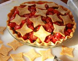 Tomato-romanesco pie