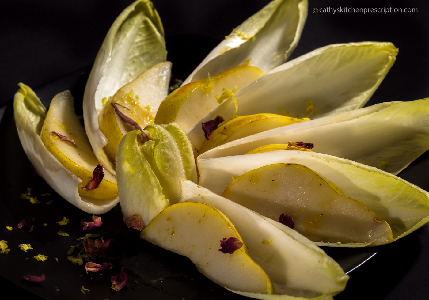 Moroccan pear & endive salad
