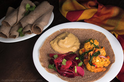 Ethiopian Injera and Plant-Based Wats
