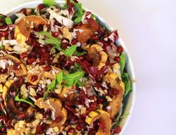 Arugula, delicata squash salad
