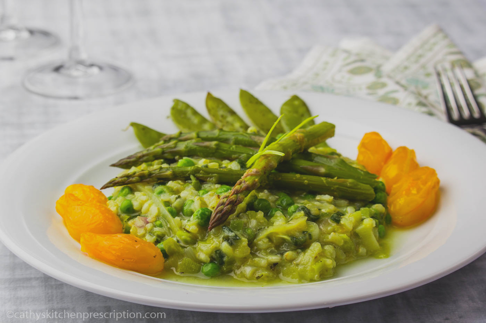 Asparagus Risotto with Vegetables en Papillote