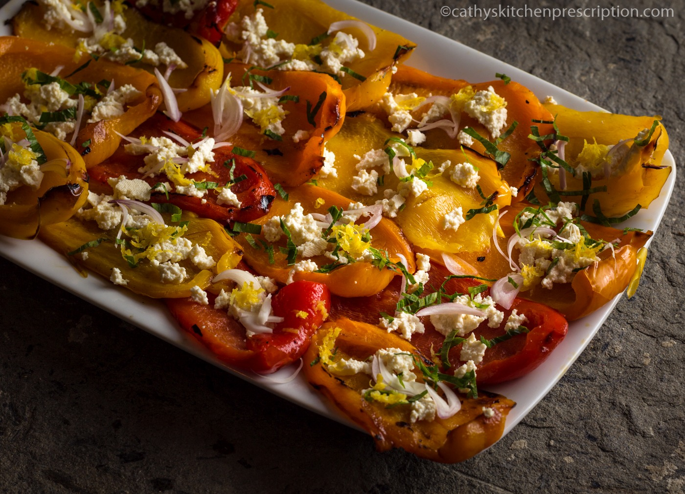 Moroccan roasted peppers