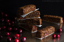 Chocolate Cranberry Granola Bars