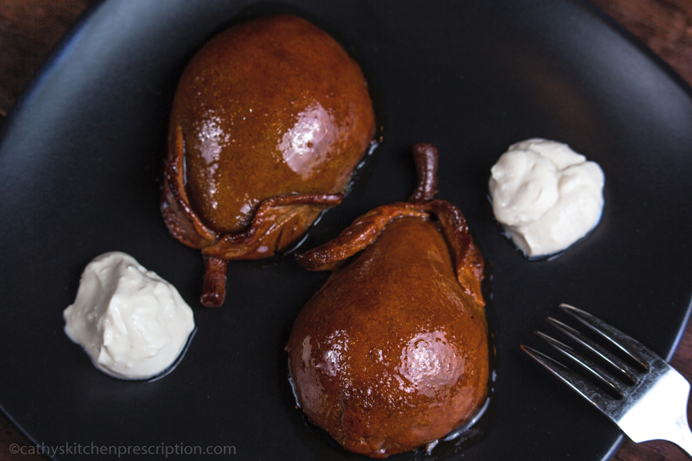 Poached Pears in Pastry