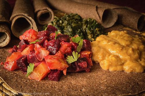 Ethiopian Beets and Potatoes (Key Sir Alicha)