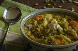 Split pea~cauliflower soup