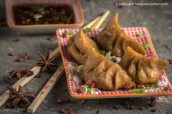 plant-based Chinese jiaozi dumplings