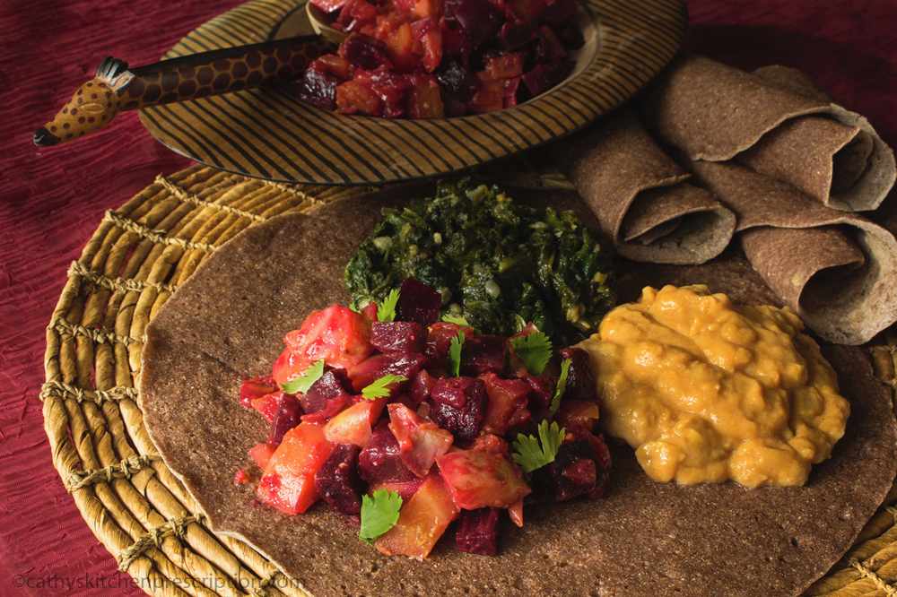 Ethiopian Injera and Plant-Based Stews